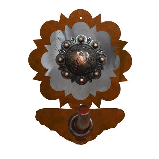Round Copper Berry Robe Hook - Rust