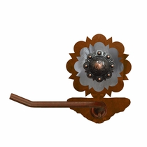Round Copper Berry Toilet Paper Holder - Rust