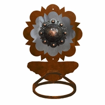 Round Copper Berry Towel Ring - Rust