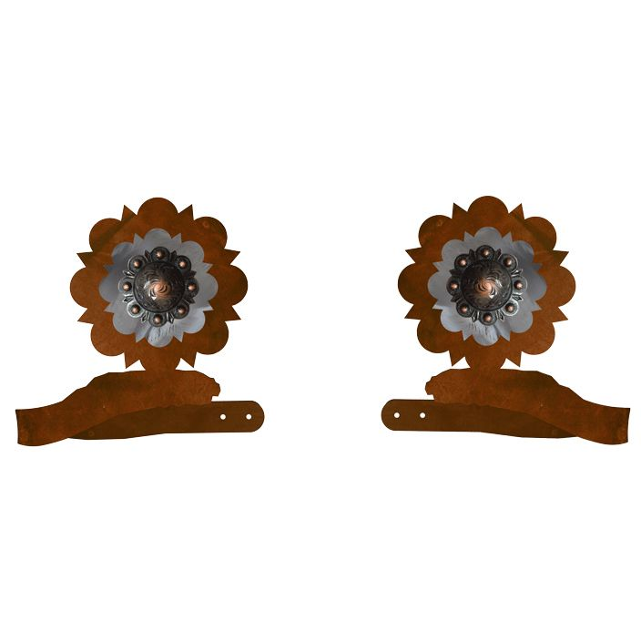 Round Copper Concho Tie Backs - Set of 2