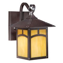 Rounded Mission 7-Inch Outdoor Wall Lamp - Espresso Bronze
