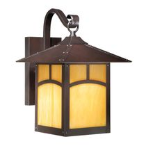 Rounded Mission 9-Inch Outdoor Wall Lamp - Espresso Bronze