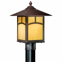 Rounded Mission Outdoor Pole Light - Espresso Bronze