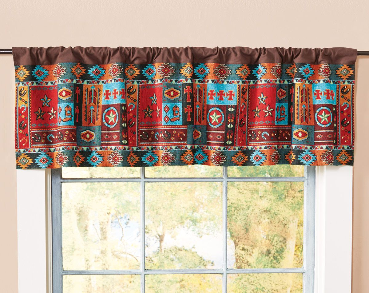 Ruidoso Rodeo Lined Valance - CLEARANCE
