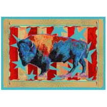 Ruiz Buffalo Stars & Stripes Rug - 3 x 4