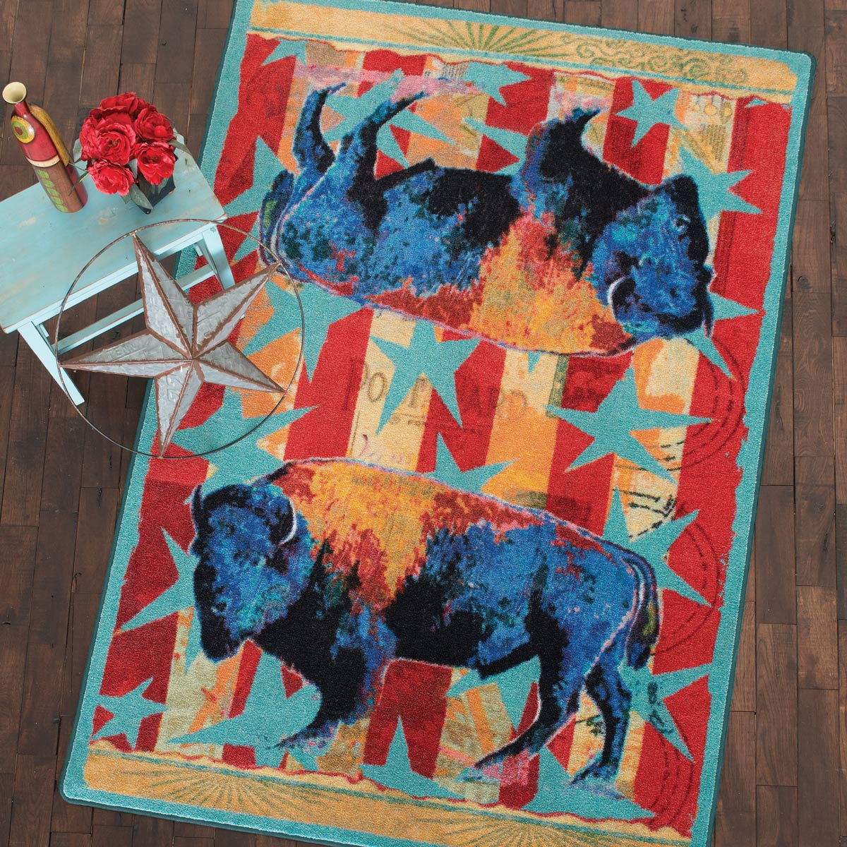 Ruiz Buffalo Stars & Stripes Rug - 5 x 8