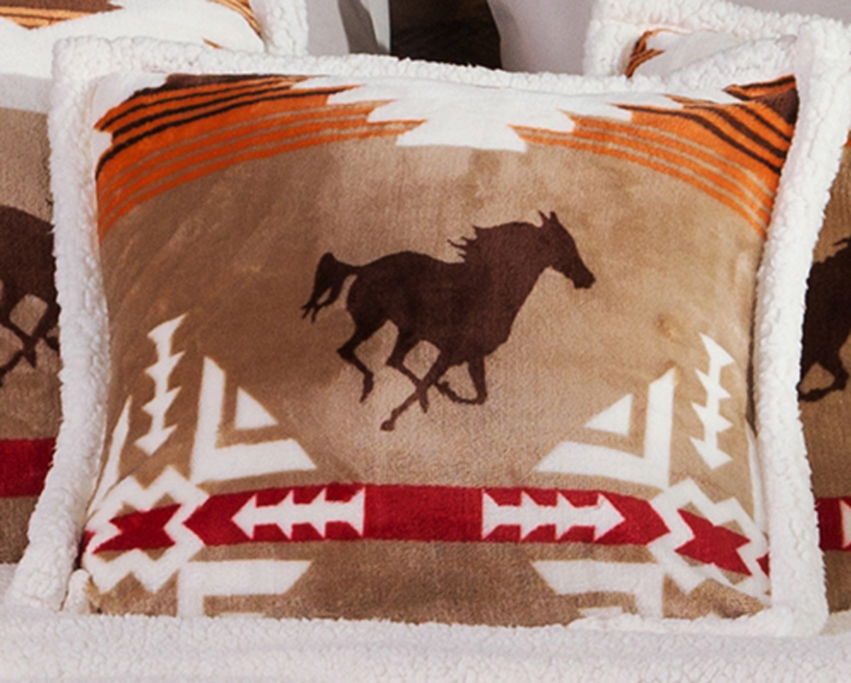 Running Free Horse Accent Pillow