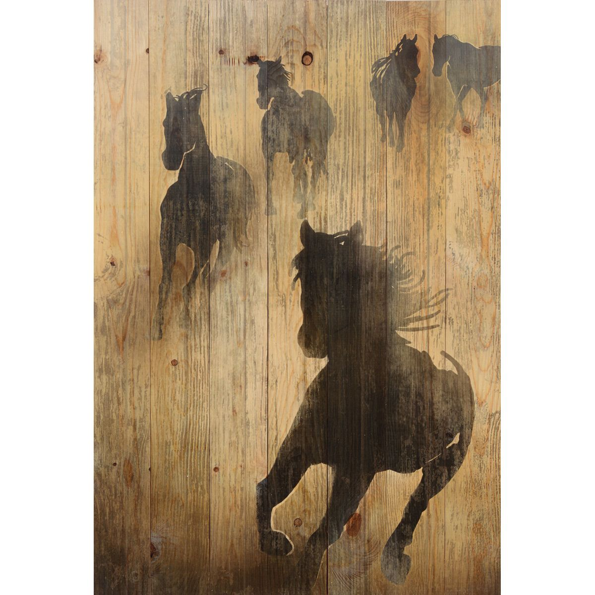 Running Free Wood Wall Plaque