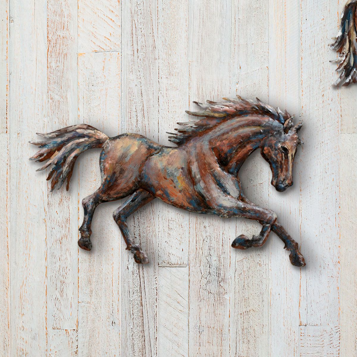 Running Horse 3-D Metal Wall Art III