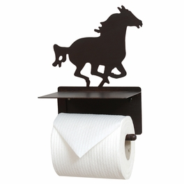 Running Horse Metal Toilet Paper Holder
