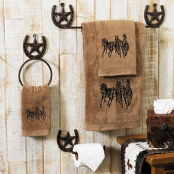 Running Horse Towel Set