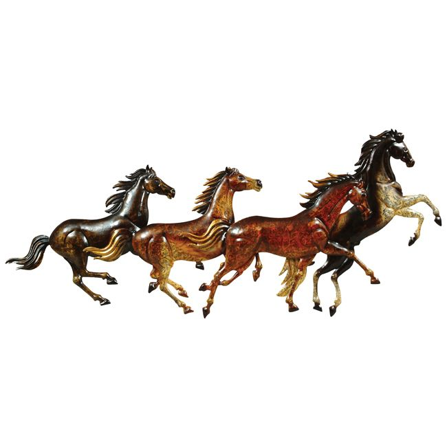 Running Horses Metal Wall Art - CLEARANCE