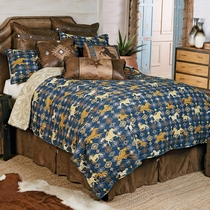 Running Wild Horse Quilt Set - Queen - CLEARANCE