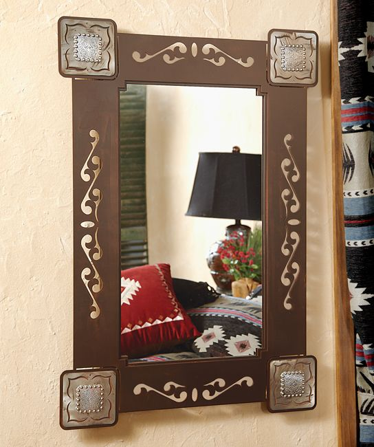 Rust Concho Mirror