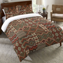 Rust Southwest Duvet Cover - Queen