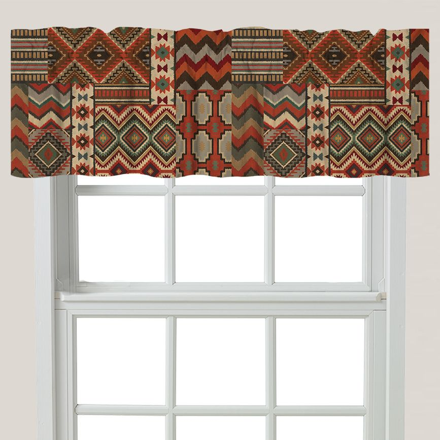 Rust Southwest Valance