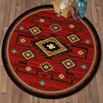 Rusted Dunes Rug - 8 Ft. Round