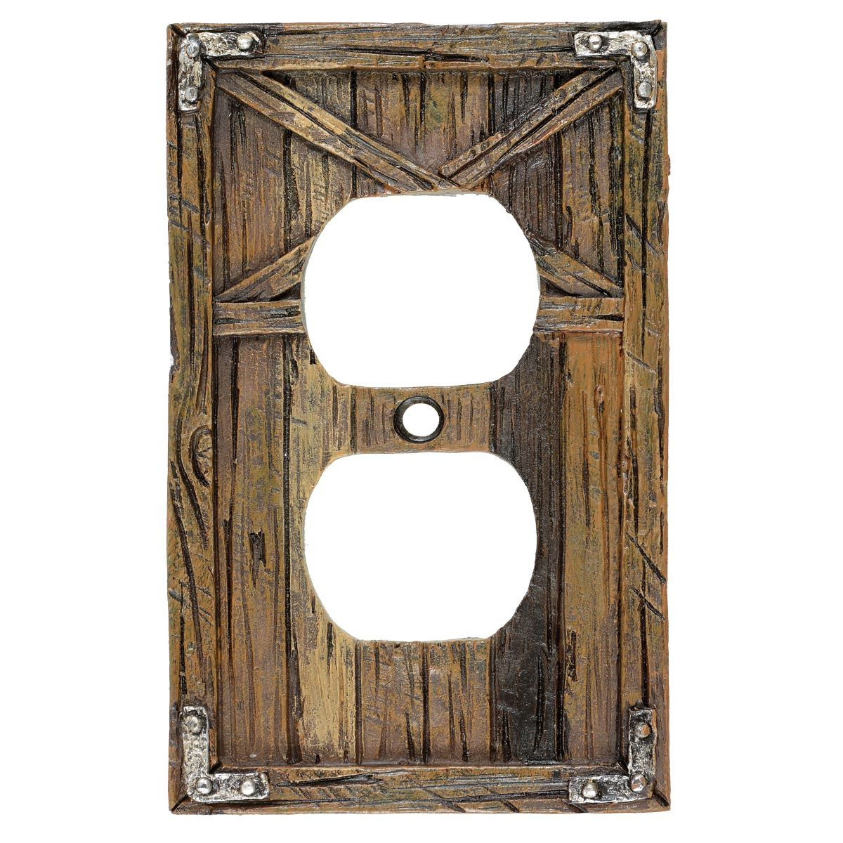 Rustic Barn Door Outlet Cover