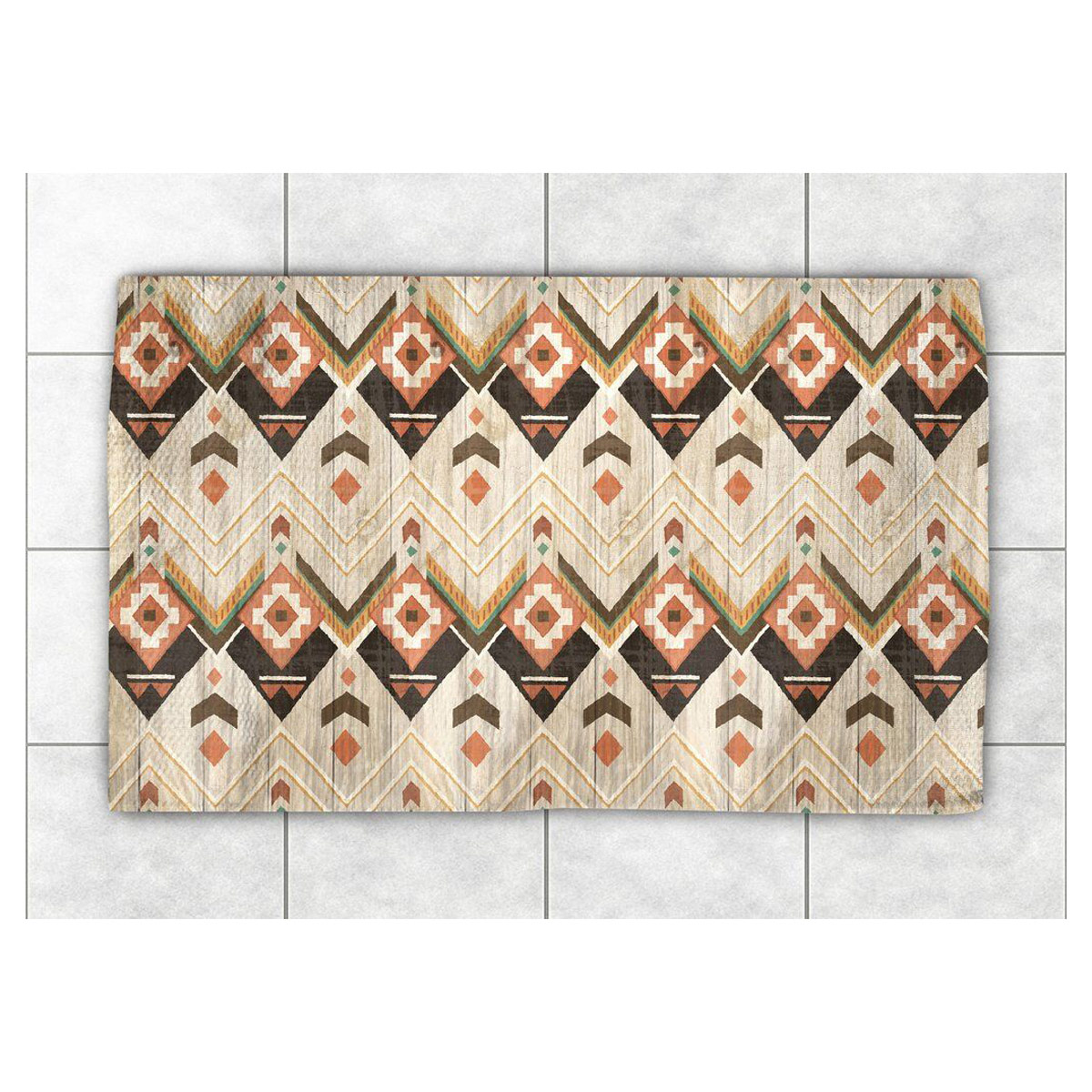 Chevron Kitchen Rug: Rustic Chevron Rug