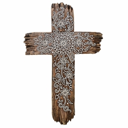 Rustic Lace Wall Cross