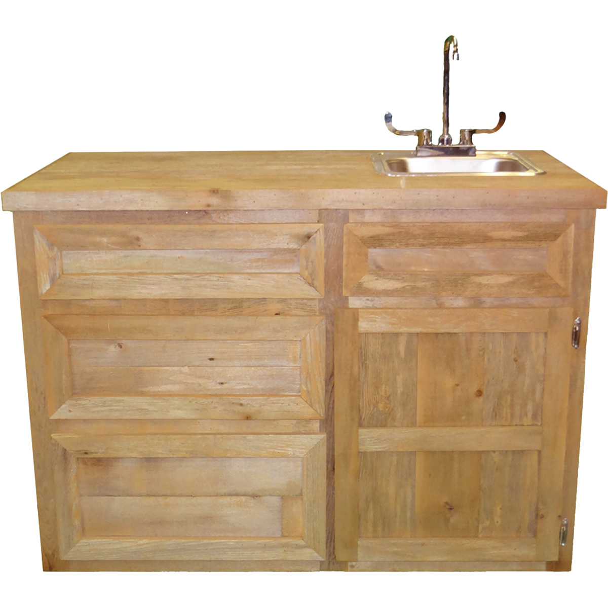 Rustic Outdoor Bar with Sink