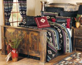 Rustic Pinewood Bed - Queen