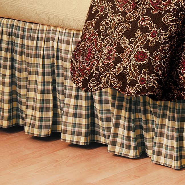Rustic Plaid Bedskirt - Twin