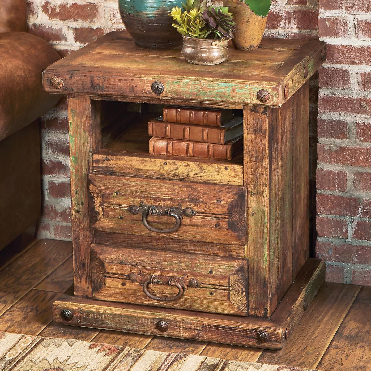 Rustic Reclaimed Wood Nightstand/Table