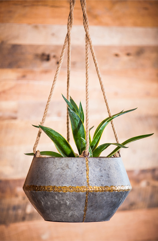 Rustic Rope Planter