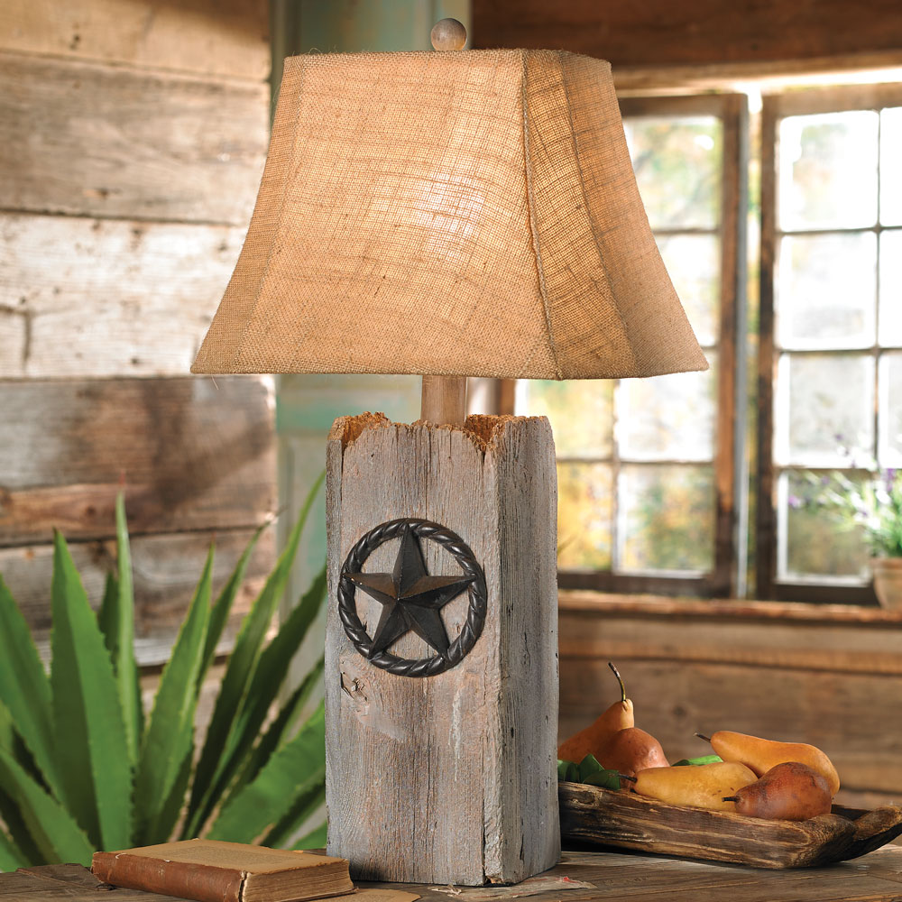 Rustic Star Table Lamp