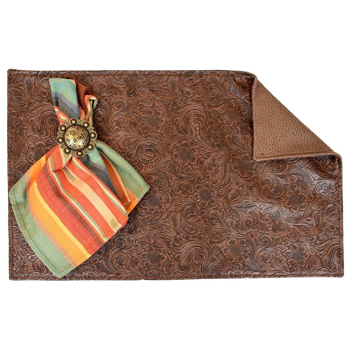 Rustica Clay & Suave Chocolate Reversible Placemats - Set of 4