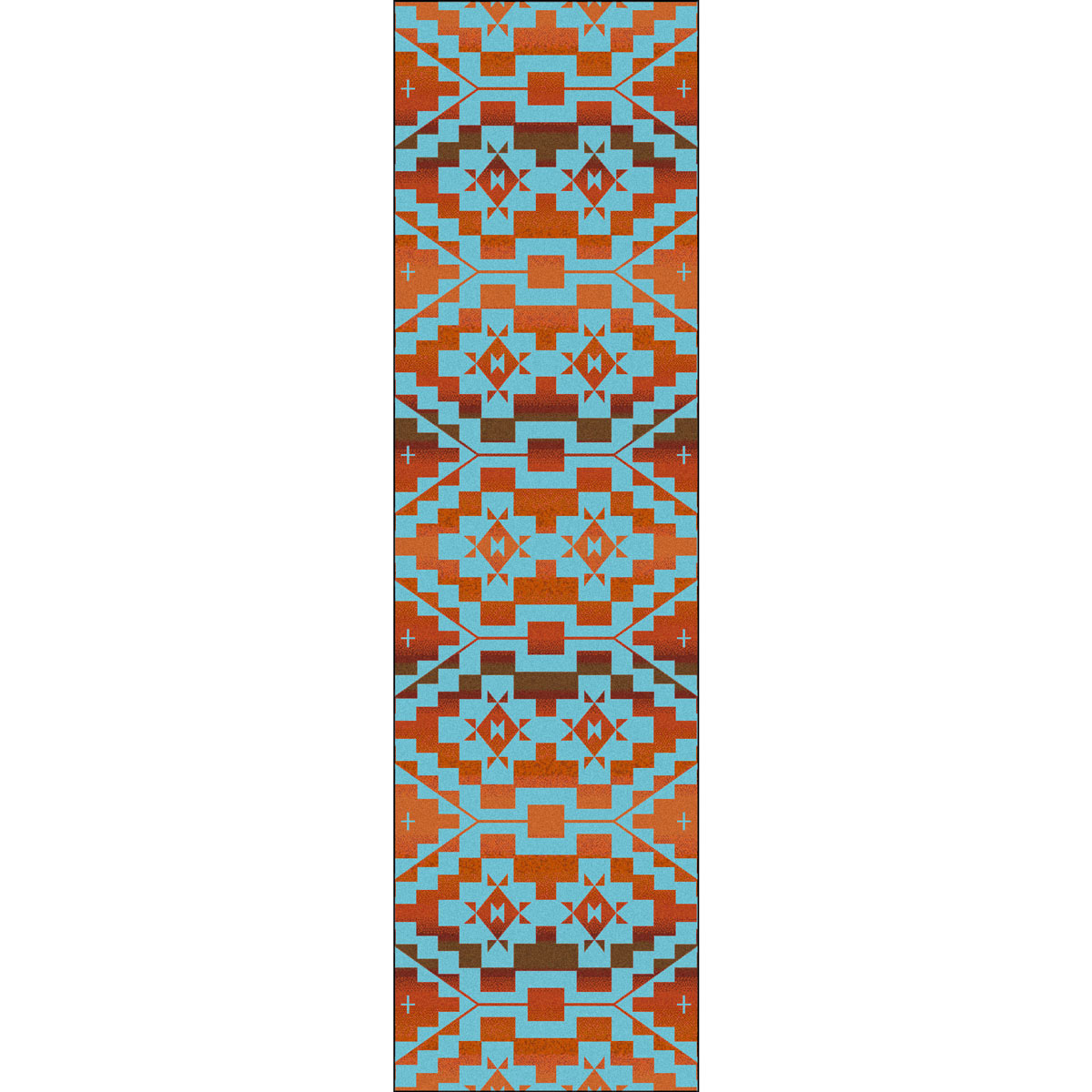 Sacred Trail Red Burst Rug - 2 x 8