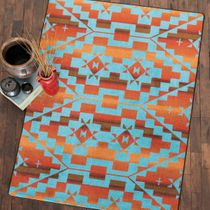 Sacred Trail Red Burst Rug - 8 x 11