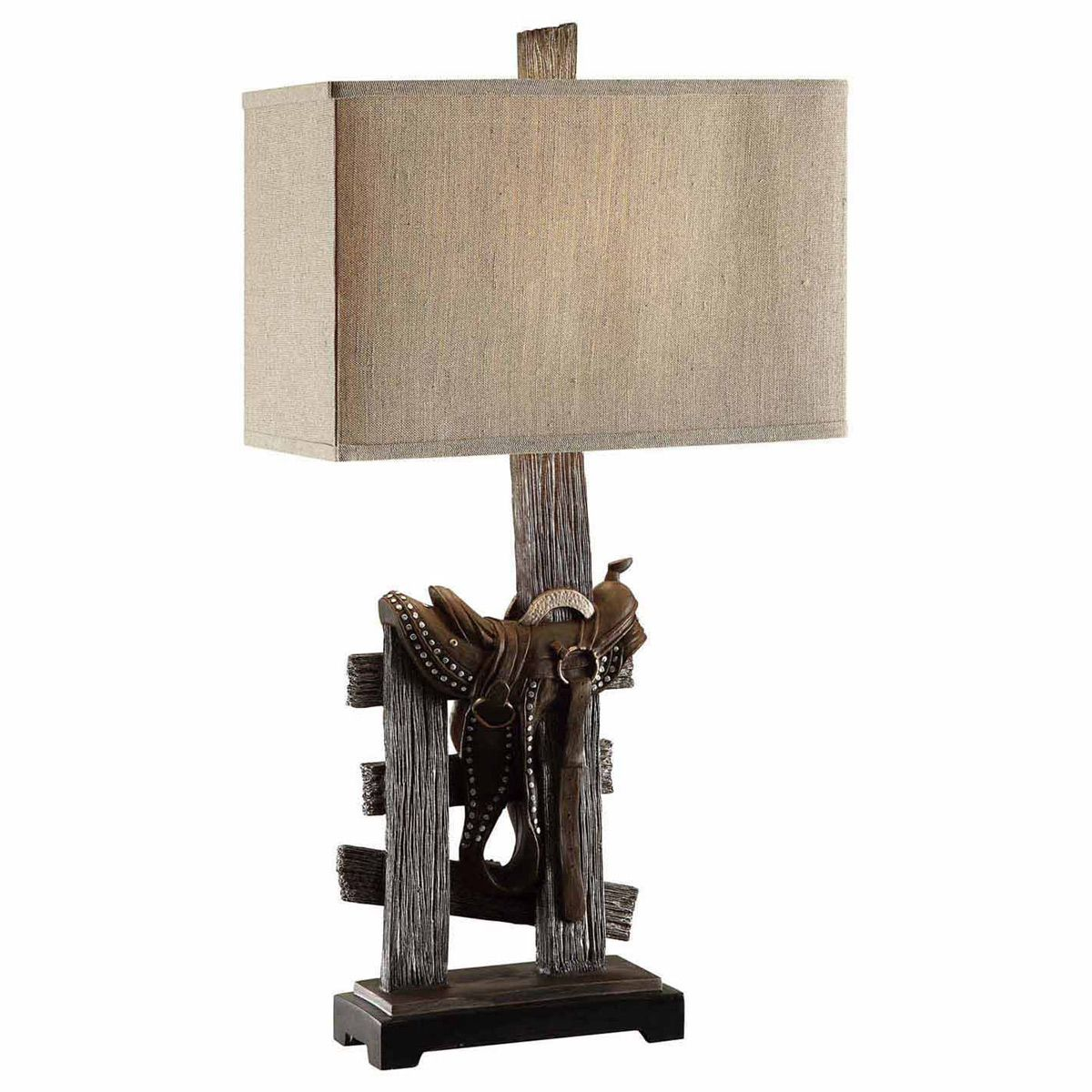 Saddle on Fence Table Lamp - OVERSTOCK