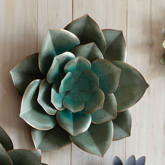 Saddle River Succulent Wall Art - Small
