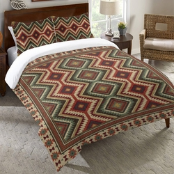 Sage Kilim Duvet Cover Collection