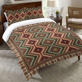 Sage Kilim Duvet Cover - Queen