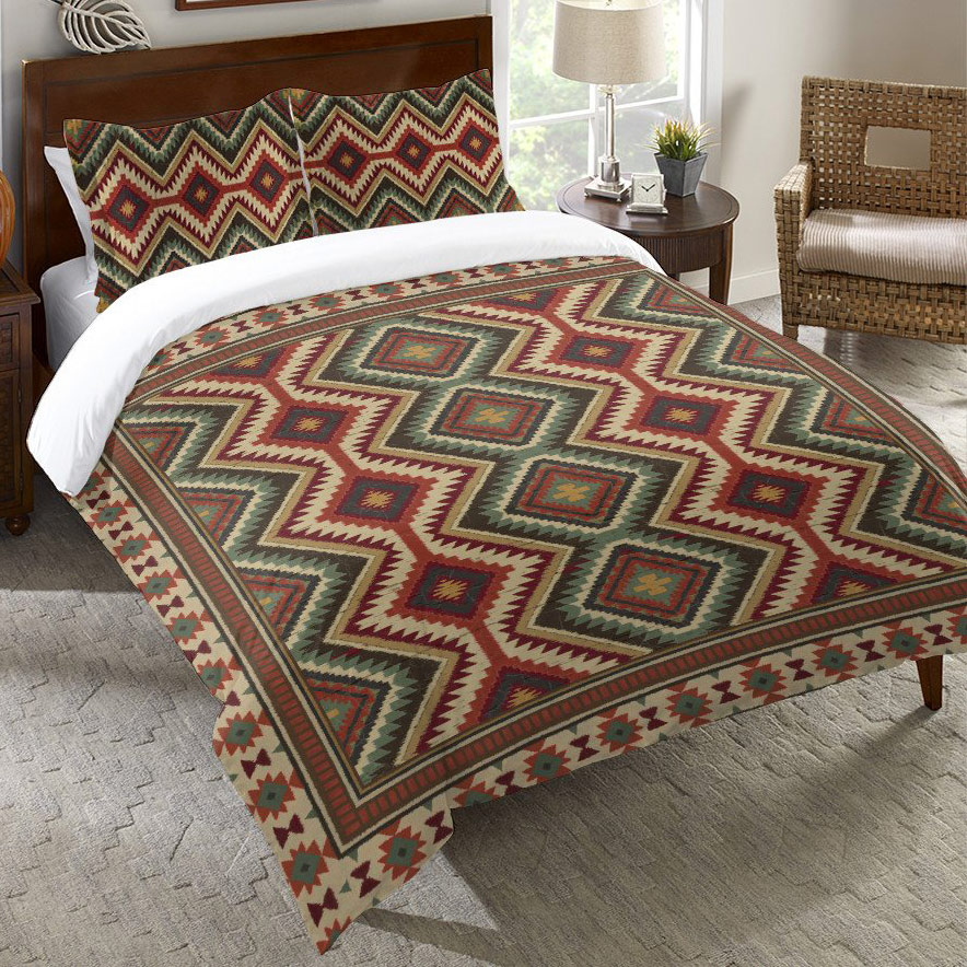 Sage Kilim Duvet Cover - Twin