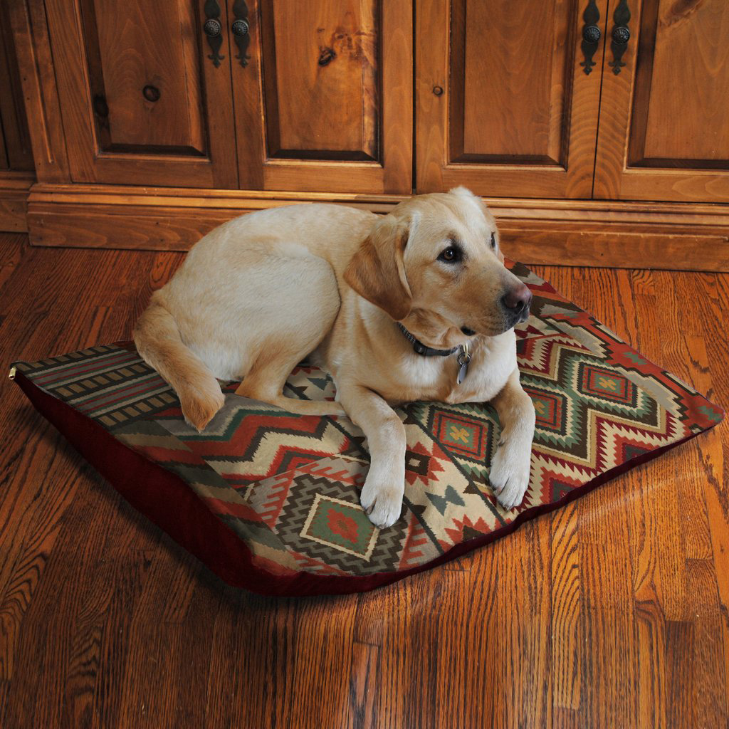 Sage Kilim Fleece Dog Bed