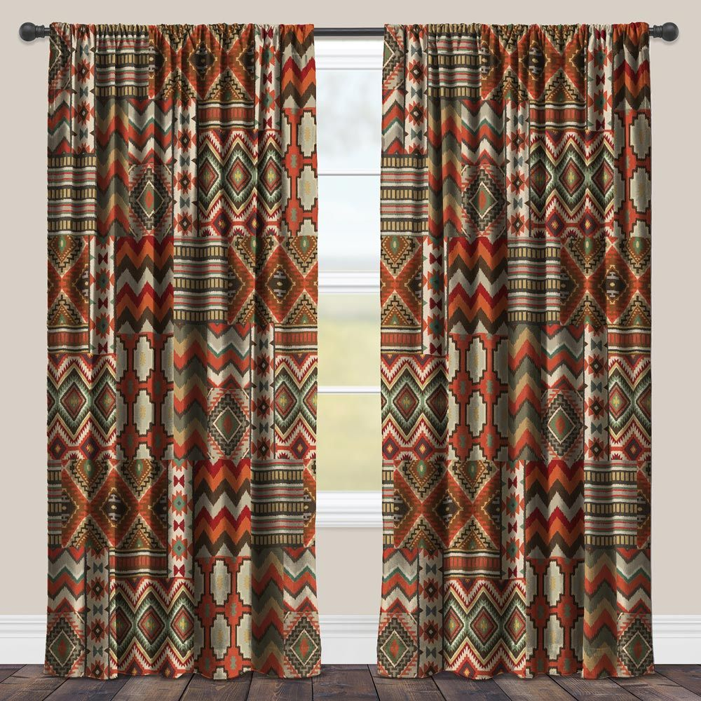 Sage Kilim Blackout Window Panel - 95 Inch