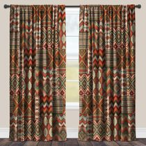 Sage Kilim Blackout Window Panel - 95 Inch - OVERSTOCK
