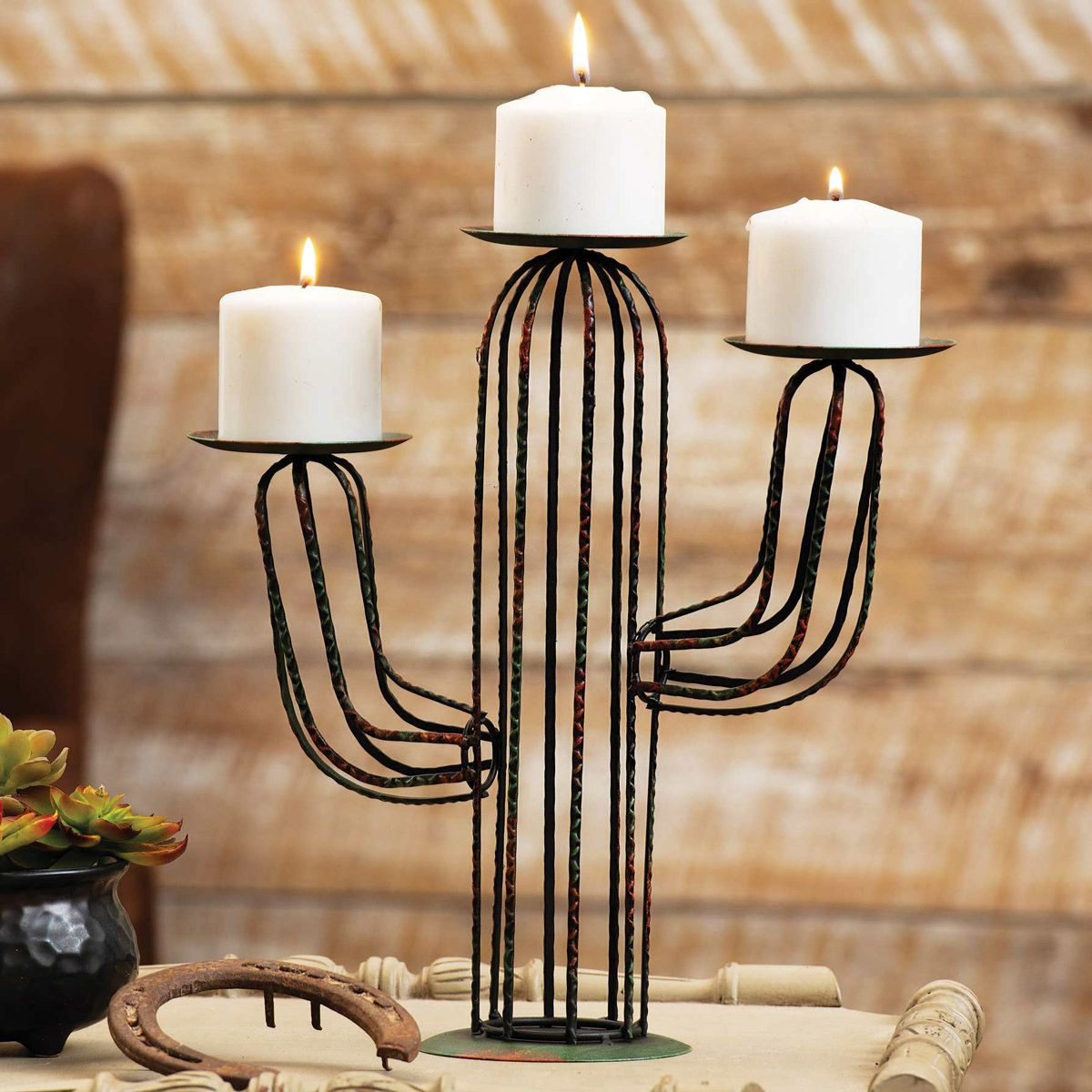 Saguaro Cactus Wire Candle Holder - CLEARANCE