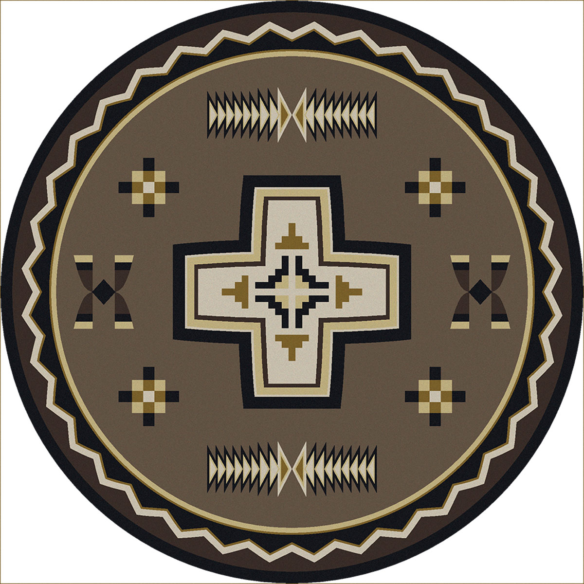 Saint Cross Rug - 8 Ft. Round
