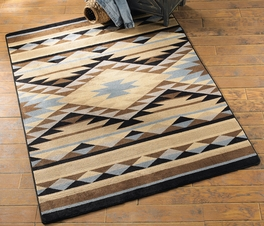 Sallisaw Blue Southwestern Rug Collection