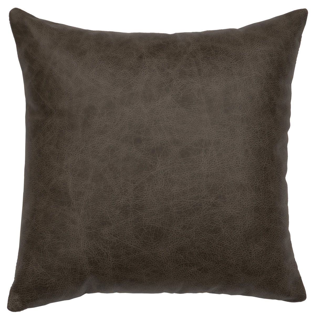 Luminaria Leather Pillow - Fabric Back - 16 x 16