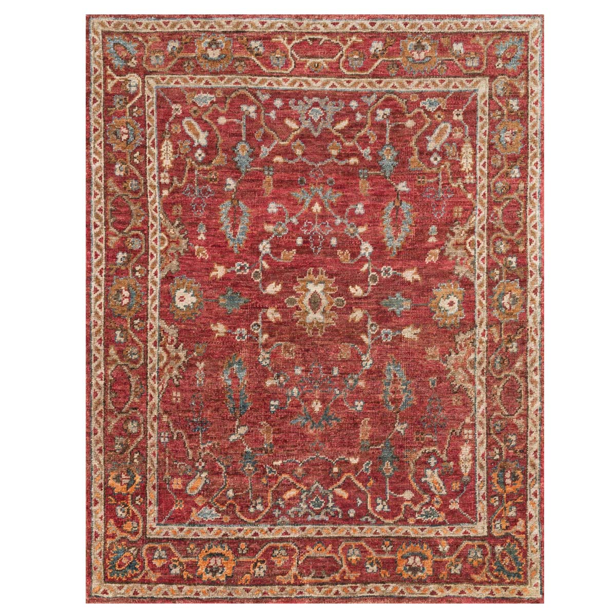 Saloon Red Rug - 2 x 3 - OVERSTOCK