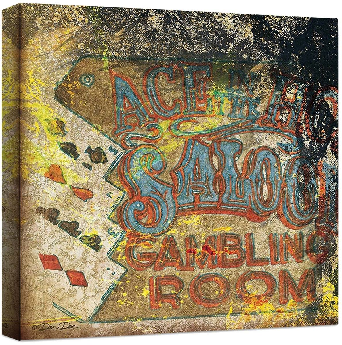 Saloon Sign Canvas Art