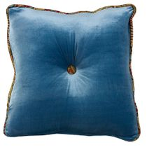 San Angelo Teal Tufted Pillow