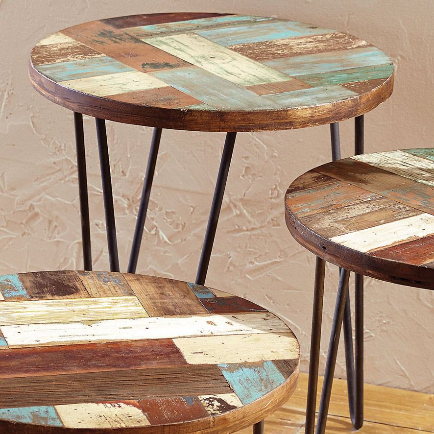 San Miguel Reclaimed Wood Side Table - Large