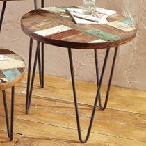 San Miguel Reclaimed Wood Side Table - Medium